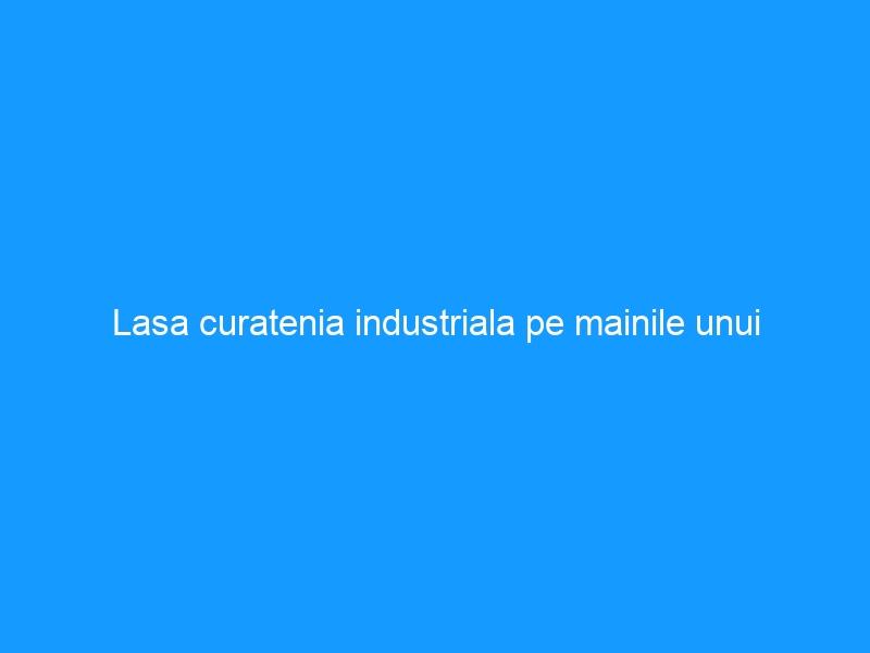 Lasa curatenia industriala pe mainile unui specialist!
